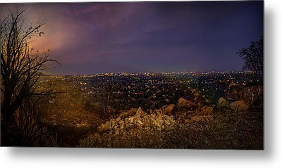 Rustenburg City  At Night Metal Print by Ronel Broderick