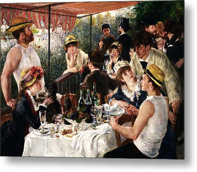 Rustic 19 Renoir Metal Print by David Bridburg