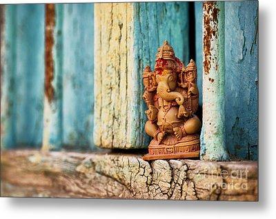 Rustic Ganesha Metal Print by Tim Gainey
