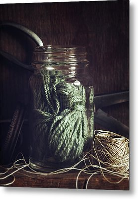 Rustic Green Metal Print by Amy Weiss