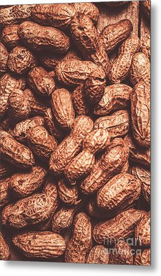Rustic Nuts Background  Metal Print by Jorgo Photography - Wall Art Gallery