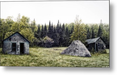 Rustic Remnants Metal Print by Richard Bean