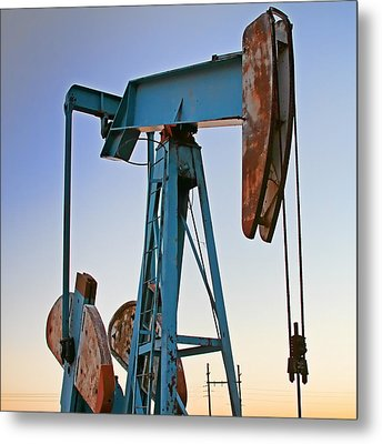 Rusty Blue Sunset Metal Print by Tony Grider