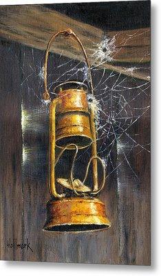 Rusty Lantern Metal Print by Bob Hallmark