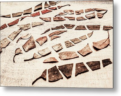 Rusty Metal Leaves Cut With Scissors Metal Print by Jorgo Photography - Wall Art Gallery