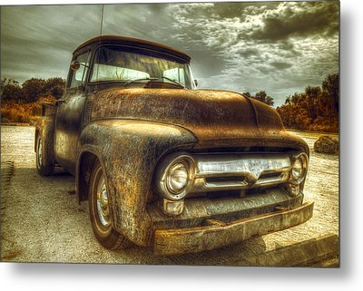 Rusty Truck Metal Print by Mal Bray