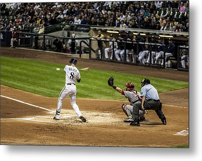 Ryan Braun  Metal Print by CJ Schmit