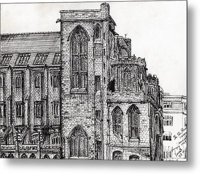 Rylands Library Metal Print by Vincent Alexander Booth