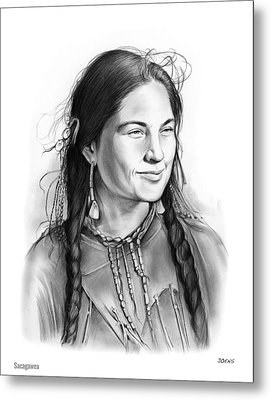 Sacagawea Metal Print by Greg Joens