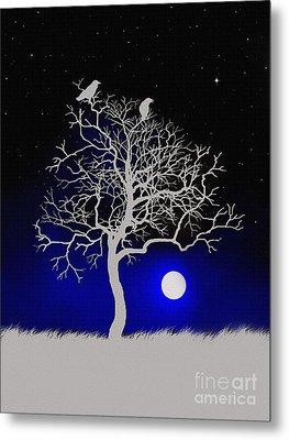 Sacred Raven Tree Metal Print by Robert Foster