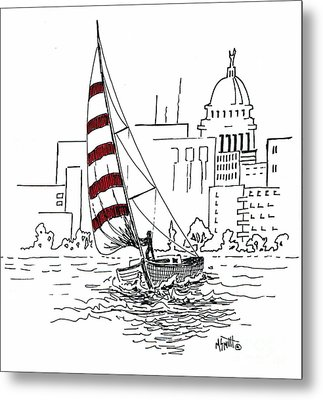 Sail Away Metal Print by Marilyn Smith