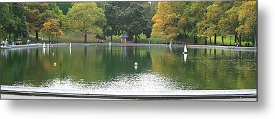 Sailboat Pond Panorama Metal Print by Christopher Kirby