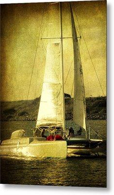 Sailing Away Metal Print by Susanne Van Hulst