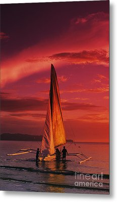 Sailing, Boracay Island Metal Print by William Waterfall - Printscapes