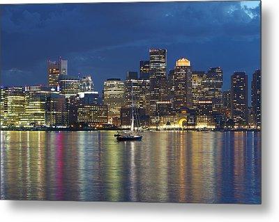 Sailing Boston Harbor Metal Print by David Yunker