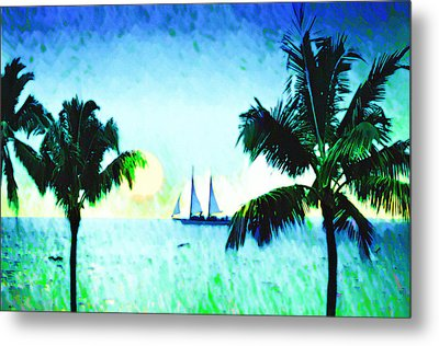 Sailing The Keys Metal Print by Bill Cannon
