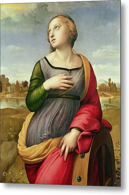 Saint Catherine Of Alexandria Metal Print by Raphael