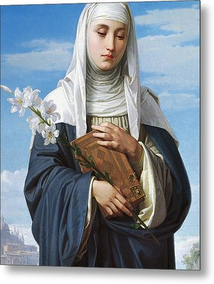 Saint Catherine Of Siena Metal Print by Alessandro Franchi