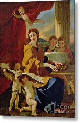 Saint Cecilia Metal Print by Nicolas Poussin