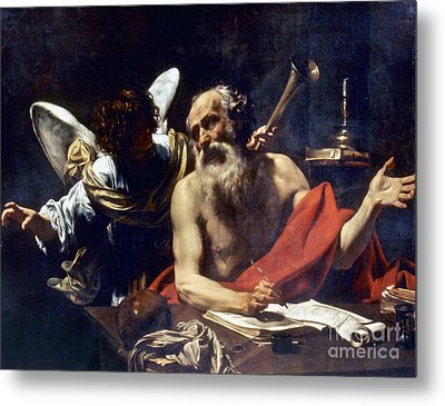 Saint Jerome & The Angel Metal Print by Granger