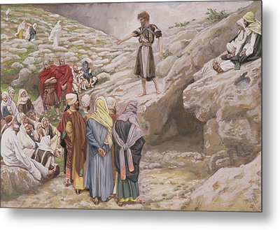 Saint John The Baptist And The Pharisees Metal Print by Tissot