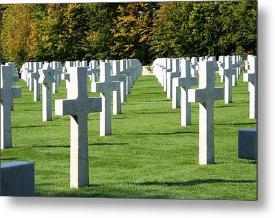 Metal Print featuring the photograph Saint Mihiel American Cemetery by Travel Pics