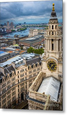 Saint Paul's Cathedral View Metal Print by Inge Johnsson