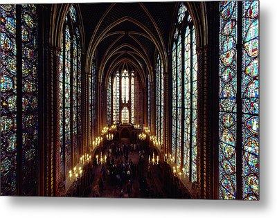 Sainte-chapelle Interior Showing Metal Print by James L. Stanfield