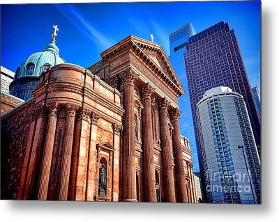 Saints Peter And Paul In Philadelphia   Metal Print by Olivier Le Queinec
