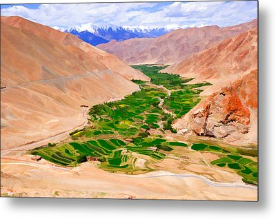 Sakti Village In Ladakh 1 Metal Print by Lanjee Chee