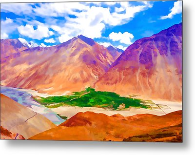 Sakti Village In Ladakh 2 Metal Print by Lanjee Chee