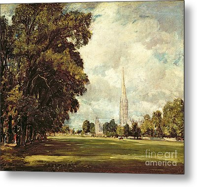 Salisbury Cathedral From Lower Marsh Close Metal Print by John Constable