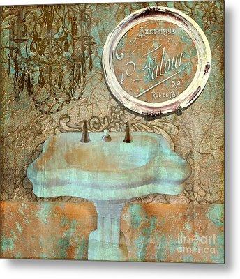 Salle De Bain II Metal Print by Mindy Sommers