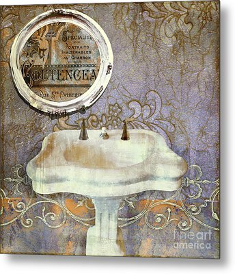 Salle De Bain Iv Metal Print by Mindy Sommers