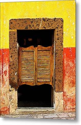 Saloon Door 1 Metal Print by Mexicolors Art Photography