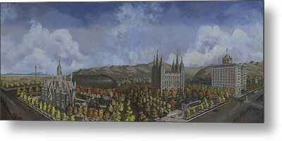 Salt Lake City Temple Square Nineteen Twelve  Metal Print by Jeff Brimley