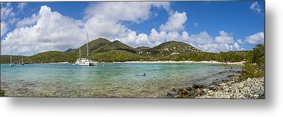 Salt Pond Bay Panoramic Metal Print by Adam Romanowicz