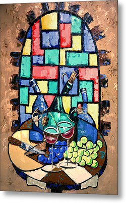 Salute Happy Hour In Tuscany Metal Print by Anthony Falbo