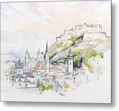 Salzburg Sunrise  Metal Print by Clive Metcalfe