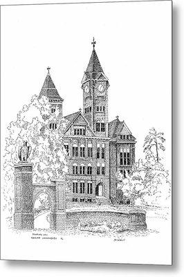 Samford Hall Metal Print by Barney Hedrick