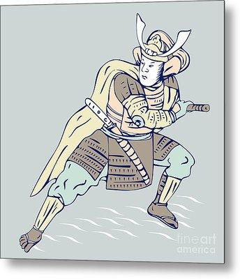 Samurai Warrior Metal Print by Aloysius Patrimonio