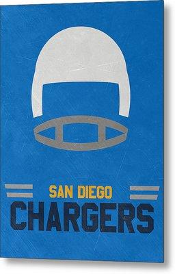 San Diego Chargers Vintage Art Metal Print by Joe Hamilton