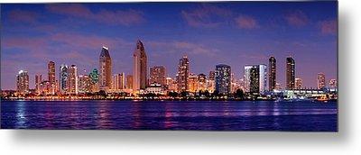 San Diego Skyline At Dusk Metal Print by Jon Holiday