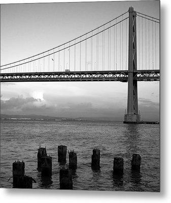 San Francisco Bay Bridge Metal Print by Mandy Wiltse