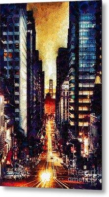 San Francisco Metal Print by Mo T