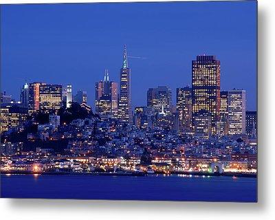 San Francisco Skyline At Dusk Metal Print by David Rout