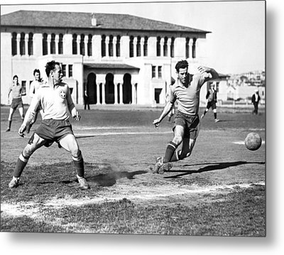 San Francisco Soccer Match Metal Print by Underwood Archives