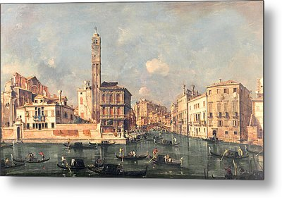 San Geremia And The Entrance To The Canneregio Metal Print by Francesco Guardi
