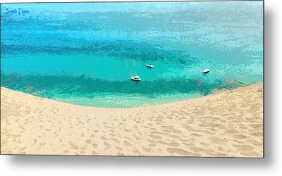 Sand And Sea - Da Metal Print by Leonardo Digenio
