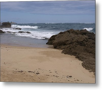 Sand And Surf San Juan Metal Print by Anna Villarreal Garbis